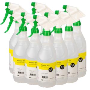 Alcohol 70% – (8 x750ml) sprayflacons Ontsmettingsalcohol