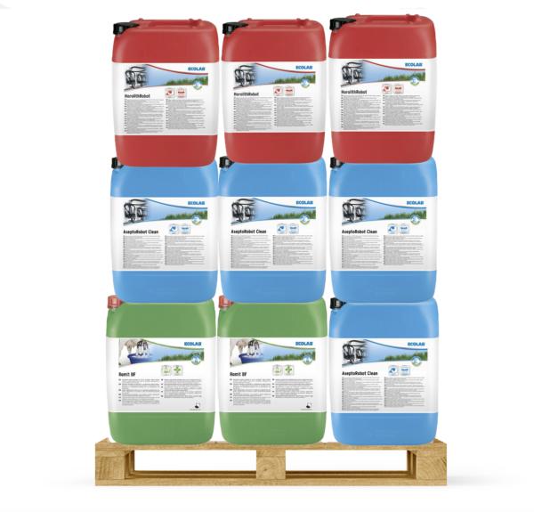 Ecolab melkrobot reinigingspakket 6-12-6 o.a. passend voor Lely