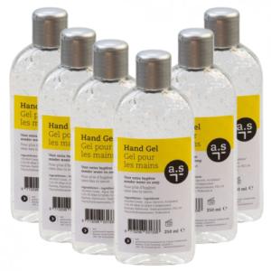 Desinfecterende handgel fliptop flessen 250 ml – Voordeelpak 6 stuks