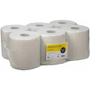 Dispenser 1-laags papierrol midi 20cm x 300 meter (Voordeelpak 6 rollen)
