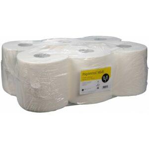 Dispenser 2-laags papierrol 450 vel - 160meter (Voordeelpak 6 rollen) a.s.