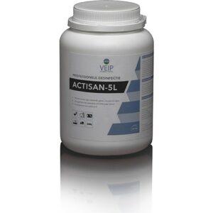 Actisan 5L chloortabletten zijn handige desinfectietabletten voor gebruik in de veehouderij.